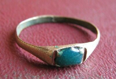 Antique Artifact > 19th Century Bronze Finger Ring SZ: 6 US 16.5mm 14434 DR