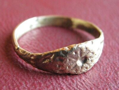 Antique Artifact > 17th Century Bronze Finger Ring SZ: 6 US 16.5mm 14435 DR