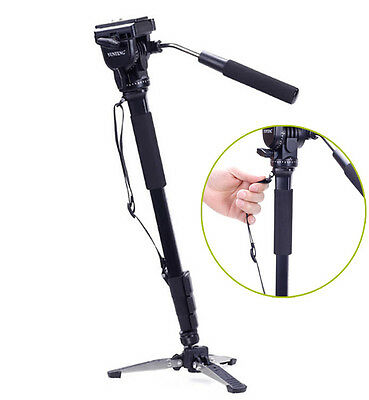 YUNTENG 288 Camera Monopod + Fluid Pan Head + Unipod Holder tripod +Phone clip