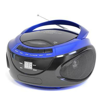 LLOYTRON N8203BL Portable Stereo CD Player with AM/FM Radio in Blue
