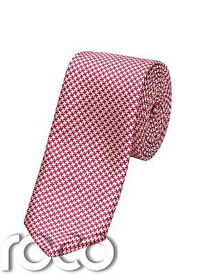 Boys Red Tie, Boys Houndstooth Tie, Patterned Accessories, Ties For Boys