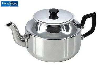 Pendeford Stainless Steel 9 Cup Teapot 1.4L Cookware Kitchen Home New