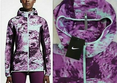 Nike Women`s Printed Trail Kiger Full Zip Running Jacket  Packable