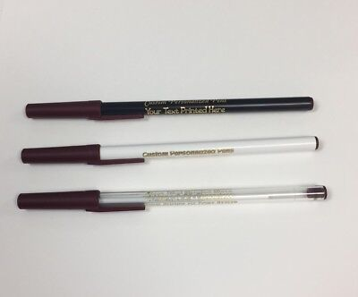 Custom Personalized Stick Pens with Burgundy Trim (50) Great Promotional Tool