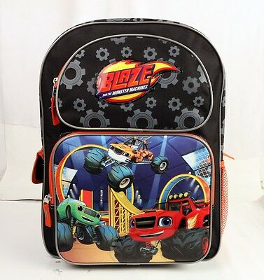 """Blaze And The Monster Machines Blazing Speed Kids Large Size 16"""" School Backpack"""