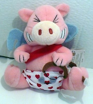 1999 Valentines Meanies Stupid Cupig Plush Beanie Nwt 6""