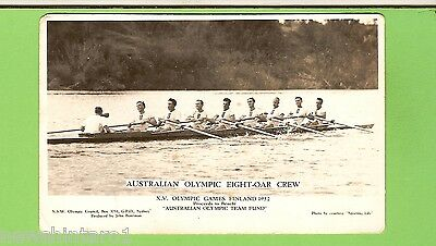 #A. 1952 Helsinki Olympic  Games Postcard - Australian Eight Oar Crew