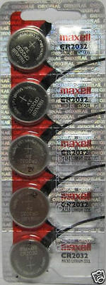 5 Lot Maxell Batteries Cr2032 3V Lithium Cell Batteries