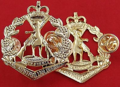 *vietnam Iraq Afghanistan War Royal Australian Regiment Uniform Cap Badge Rar