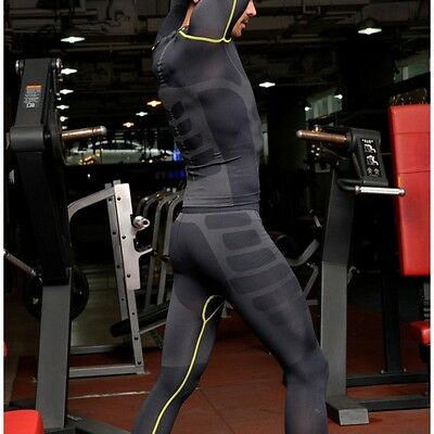 Men's Compression Base Layer Pants Breathable Sports Under Tights Trousers H22