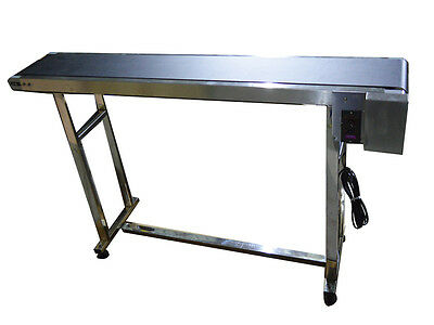 "New! 110V Powered 59"" x 7.8"" Belt Conveyor without fence,Used for Packaging Best"