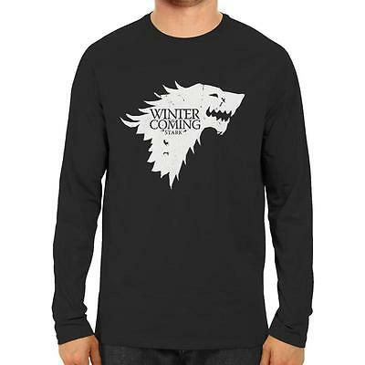 Winter is Coming STARK Game of Thrones Long Sleve T-shirt - House Sigil Direwolf
