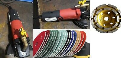 "Wet Stone Travertine Granite Polisher 4"" Polishing Pad Cup Grinding Wheel Marble"