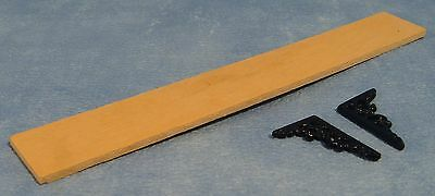 Dolls House Miniature 1/12th Scale Wooden Shelf and Brackets