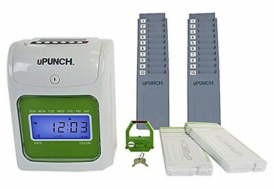 UPunch Time Clocks HN3500 Time Clock Bundle With 100 Cards And Two 10 Slot Card