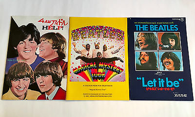 BEATLES lot of 3 JAPAN MOVIE PROGRAM BOOK Help Magical Mystery Tour Let It Be