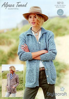 eb9170129 Stylecraft 9213 Knitting Pattern Cardigans in Stylecraft Alpaca Tweed DK