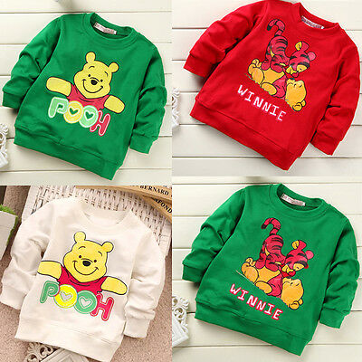Winnie Weenie the Pooh Infant Baby Girls Boys Summer T-shirt Tops Shirts Clothes