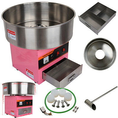1300W Electric Cotton Candy Floss Maker Machine Works Continually Home Party DIY