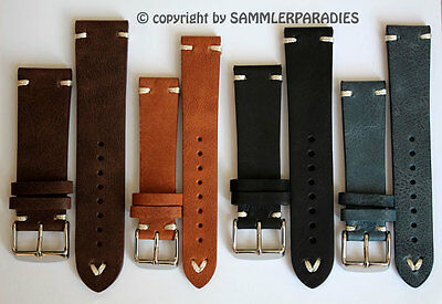 Uhrband 18mm 20mm 22mm 24mm Vintage Retro Look genuine Leder BAND Strap BS