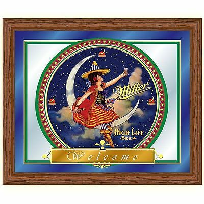 Trademark Miller High Life Girl in the Moon Mirror - 16  New