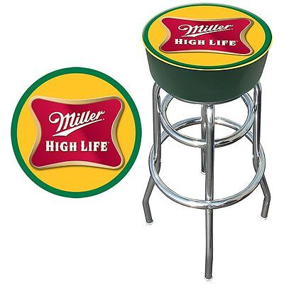 Trademark Miller High Life Logo Padded Bar Stool New