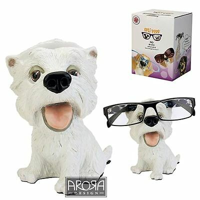 Optipaws Westie Dog Glasses Holder Figurine NEW in Gift box