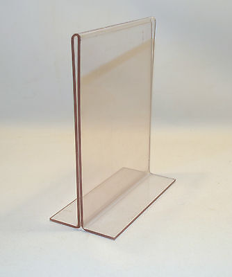Plastic Restaurant Menu Holder Advertizing Table Top Photo Holder Double Sided