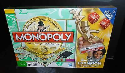 New Monopoly Championship Edition Board Game. Complete Family Hasbro