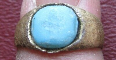 Ancient Artifact > Roman Bronze Finger Ring SZ: 5 US 15.75mm 14450 DR