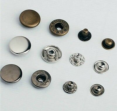 50SET Metal Button Snap Fastener Popper Press Stud Sewing Leather 10/12/15mm