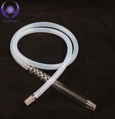 Silicone Hookah Hose For Shisha With Glass Mouthpiece Fitting 1.5M (3 Parts)