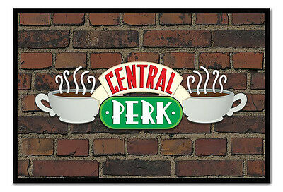 Framed Friends Central Perk Sign On Brick Wall TV Show Poster New