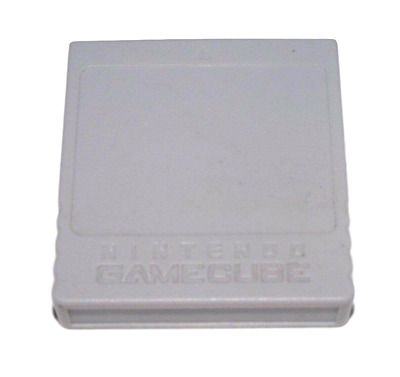 Genuine Memory Card For Nintendo GameCube 59 Blocks Official Grey Wii Compatible