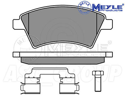 Meyle Brake Pad Set Front Axle With anti-squeak plate 025 238 7316//W