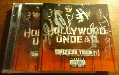 Hollywood Undead American Tragedy Signed CD  sleeve plus sealed cd