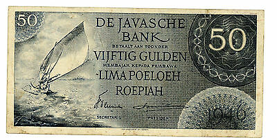 Netherlands Indies … P-93 … 50 Gulden … 1946 … *VF*  3 Letters.