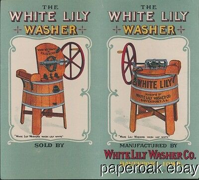 The White Lily Washer Company  Davenport, Iowa Trade Card Folder ca.1890