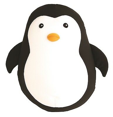 Kikkerland Soft Stuffed Penguin Zip & Flip Microbead Travel Neck Pillow Gift