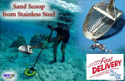 "Sand Scoop ""Standart -9m"" Metal Detector Tool from Genuine Stainless Steel 1.5mm"