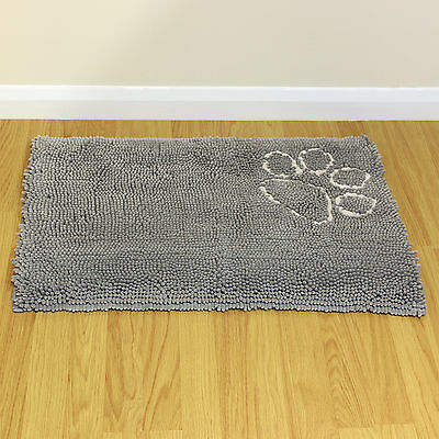Medium Grey Warm Cosy Fleece Pet Bed Floor/Door Mat Car/Crate/Cage Dog/Puppy/Cat
