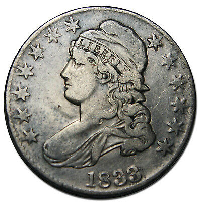 1833 Capped Bust Half Dollar 50¢ Coin Lot# MZ 2230