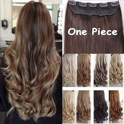 Real Thick,24-26 Inch,3/4 Full Head Clip In Hair Extensions,Brown Black Blonde