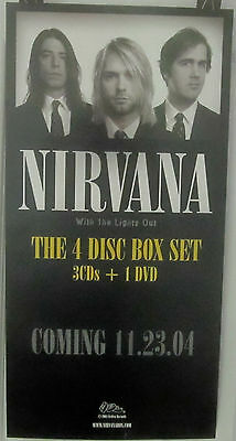 Nirvana - WITH THE LIGHTS ON - Promo Box Set Poster [2004] - VG++