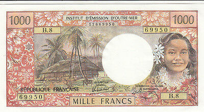 Billet banque FRENCH PACIFIC TAHITI POLYNESIE PAPEETE 1000 Frs 1985 NEUF NEW UNC