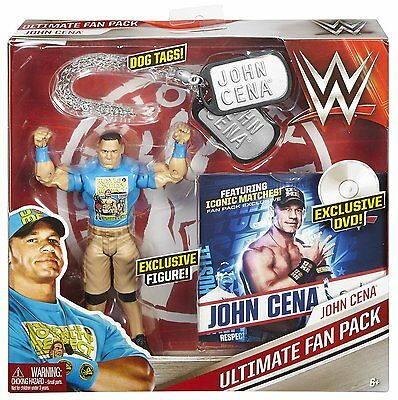 """WWE Ultimate Fan Pack Exclusive JOHN CENA 6"""" Figure with DOG TAGS & DVD"""