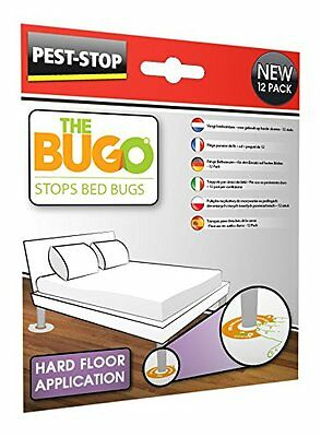 Pest Stop Bugo Bedbug Monitoring Prevention Catch & Kill Bed Bugs Soft Floor
