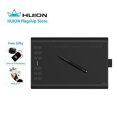Huion NEW 1060PLUS Drawing Tablet +12 Hot Keys +8GB SD Card +Updated 8192 Levels