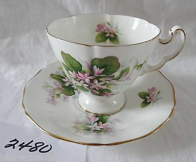 ROYAL ADDERLEY bone china England CUP & SAUCER  Provincial Flowers MAYFLOWER