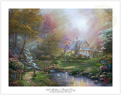 Thomas Kinkade Studios A Mothers Perfect Day 25.5 x 34 S/N Limited Edition Paper